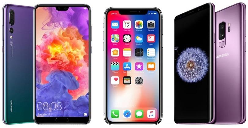 Huawei P20 Pro vs iPhone X vs Galaxy S9 0