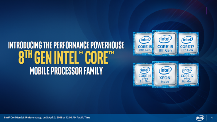 Intel Coffee Lake H Core i9 8950HK i7 8850H i7 8750H i5 8400H e i5 8300H 1 740x416 0