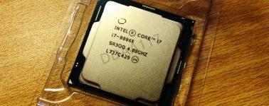 Intel Core i7-8086K: 6 núcleos y 12 hilos @ 4.00/5.10 para celebrar el 40 Aniversario