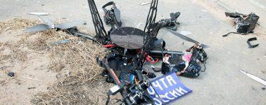 El Servicio Postal de Rusia puso en práctica la entrega de paquetes con drones, con fatídico resultado