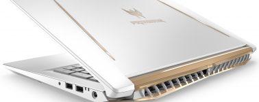 Acer Predator Helios 300 Edición Especial: Llamativo portátil gaming blanco y dorado