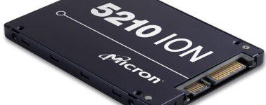 Micron lanza sus SSD 5210 ION con memoria QLC NAND Flash