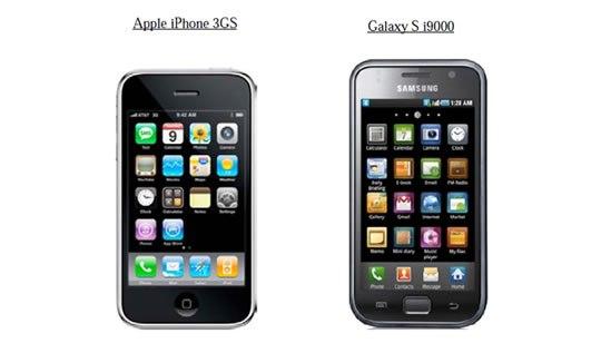 iphone samsung galaxy s 0