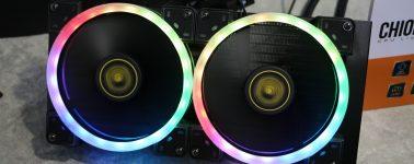 #Computex– Gamdias Chione E1 y Chione M1, líquidas con ventiladores Aeolus
