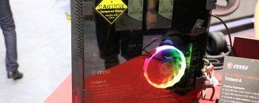 #Computex – MSI Trident A: Un PC con una GTX 1080 Ti en tamaño de consola con iluminación RGB