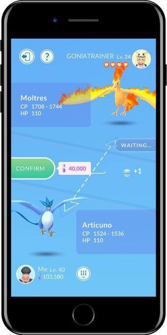 Pokémon GO intercambios 1 1