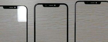 Estos serían los paneles frontales de los iPhone 2018, biseles extremadamente delgados