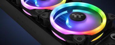 Thermaltake Riing Trio 12 LED RGB: Ventiladores con triple anillo RGB y controlables mediante Alexa