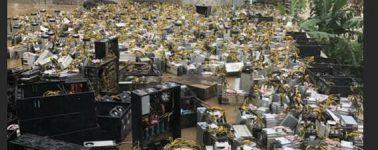 Millones de euros a la basura en equipos de minado de Bitcoin tras las inundaciones en China