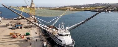 SpaceX instala una red cuatro veces más grande en su barco de recuperación Mr. Steven