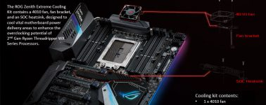 Asus se conforma con lanzar un 'kit de refrigeración' para su ROG Zenith Extreme