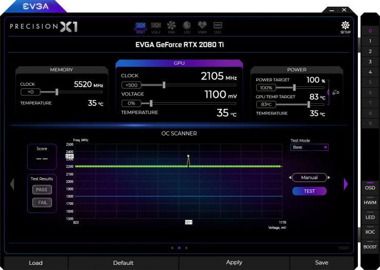 EVGA Precision X1 Nvidia Scanner 740x526 0