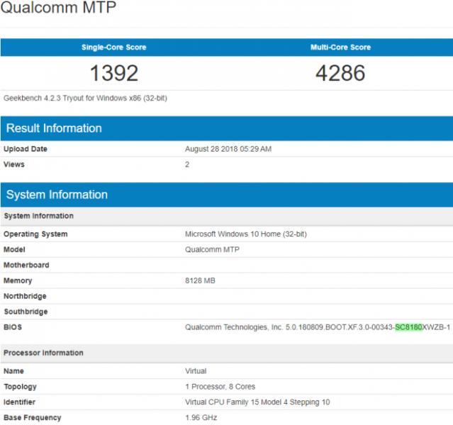 Snapdragon 8180 Geekbench 639x600 0