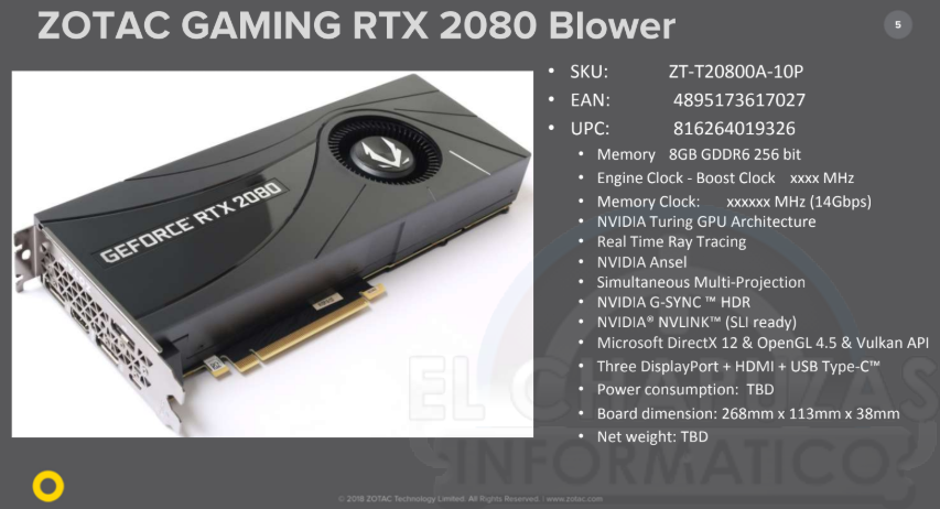 Zotac Gaming GeForce RTX 2080 Blower 5