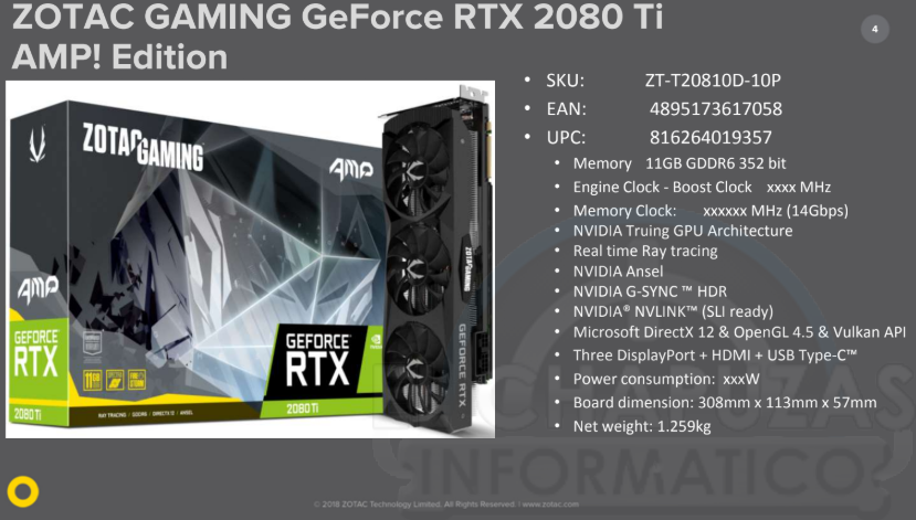 Zotac Gaming GeForce RTX 2080 Ti AMP Edition 0