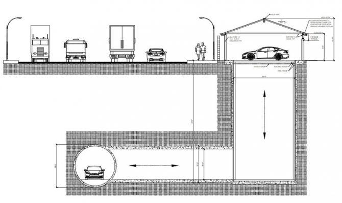 The Boring Company tunel garaje 0