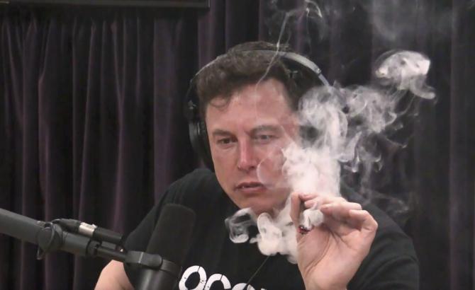 elon musk fumando marihuana 0