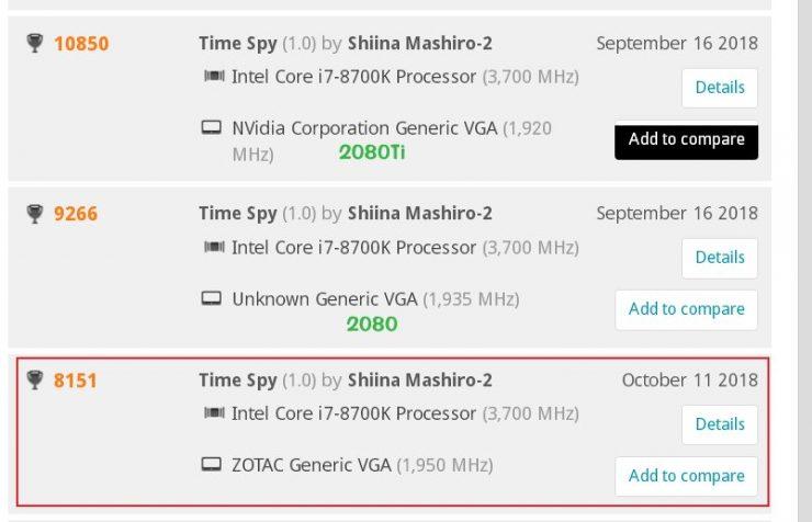 NVIDIA GeForce RTX 2070 3DMark Timespy Benchmark 740x476 1