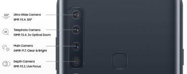 Las cuatro cámaras del Samsung Galaxy A9 al detalle