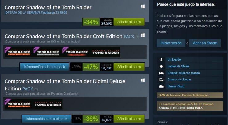 Shadow of the Tomb Raider criticas descuento 2 740x407 1