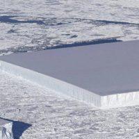 La NASA descubre un iceberg en la Antártida con la forma de un rectángulo perfecto