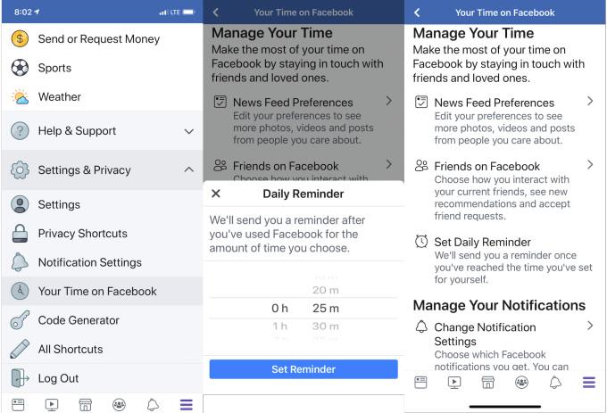 Facebook Your Time medición de tiempo 2 1