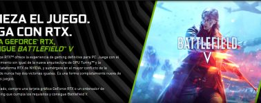 Nvidia regala el Battlefield V con la venta de sus GeForce RTX