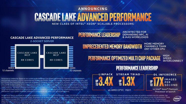 Intel Cascade Lake Advanced Performance 740x415 1
