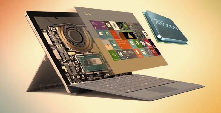 Microsoft Surface con AMD Ryzen 740x379 0