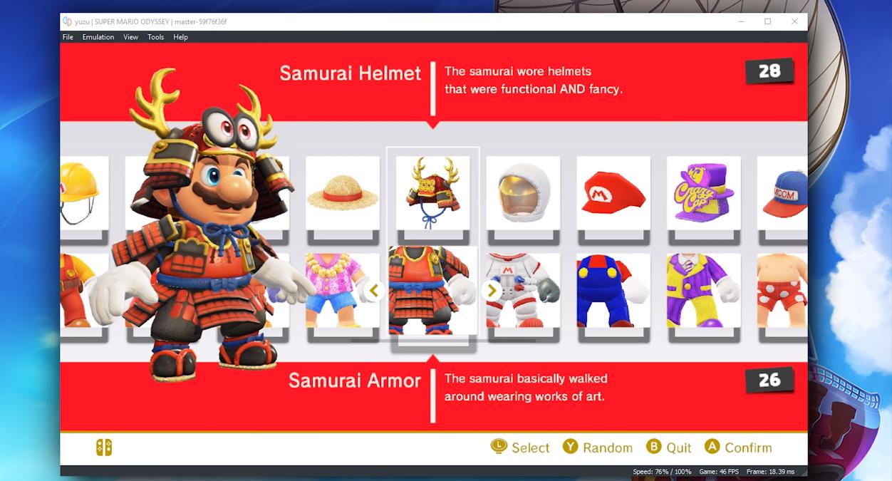 Super Mario Odyssey Yuzu Emulator 0