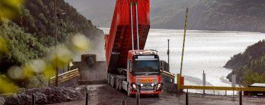 Los camiones autónomos de Volvo transportarán piedra caliza en una mina de Noruega