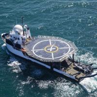 SpaceX presenta su nueva versión del 'Go Searcher', su barco para la recuperación de astronautas