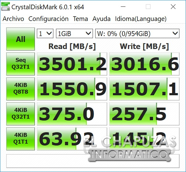 ADATA XPG SX8200 Pro CrystalDiskMark