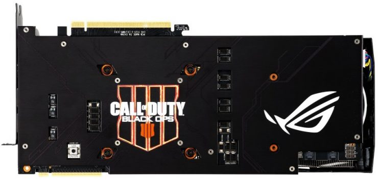 Backplate Asus ROG Strix GeForce RTX 2080 Ti OC - Call of Duty: Black Ops 4 Edition
