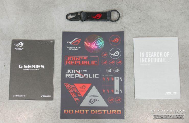Asus ROG Strix SCAR II (GL504GS) Accesorios