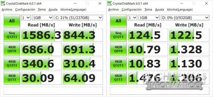 Asus ROG Strix SCAR II (GL504GS) CrystalDiskMark