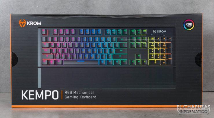 teclado krom kempo embalaje frontal