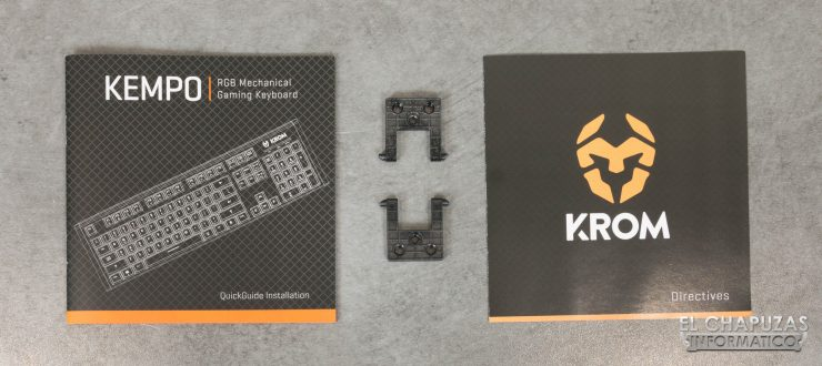 teclado krom kempo manual y accesorios