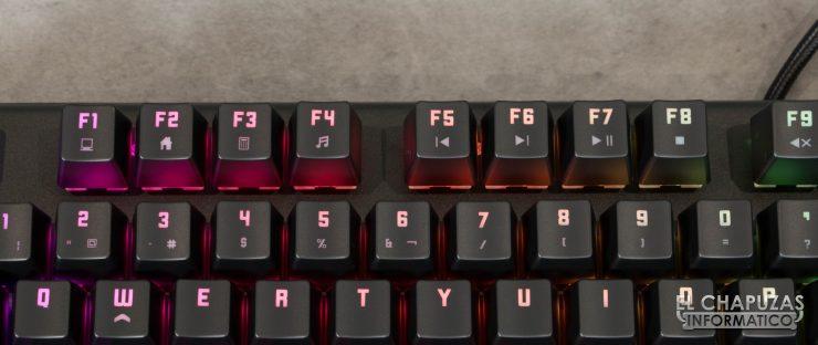 teclado krom kempo teclas multimedia