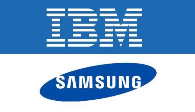 Logo Samsung e IBM. 0