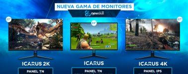 Newskill Icarus e Icarus 2K y 4K, otra compañía española que lanza sus propios monitores