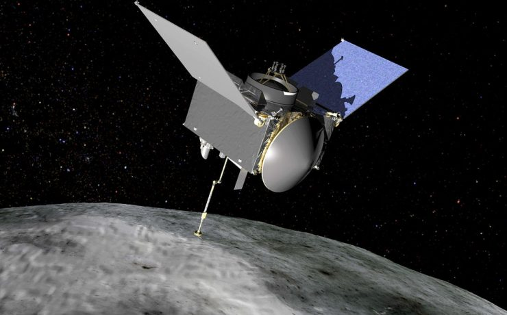Recreación de la sonda OSIRIS-REx de la NASA.
