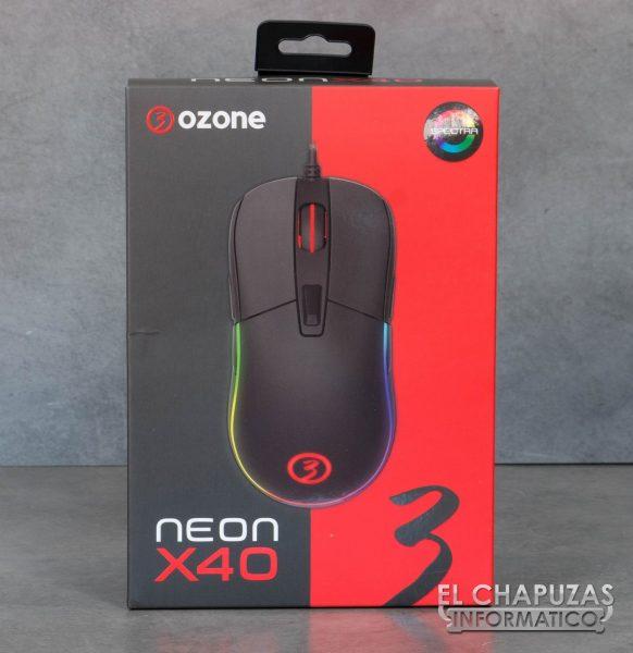 Ozone Neon X40 embalaje frontal