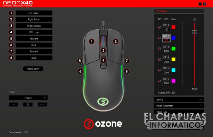 Ozone Neon X40 software 1
