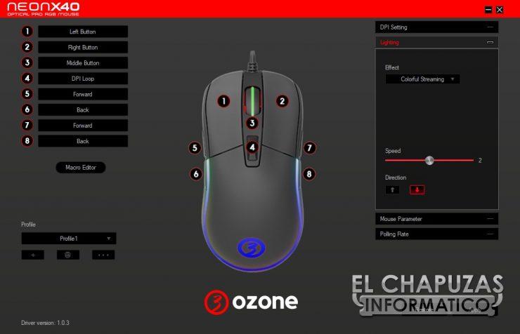 Ozone Neon X40 software 2