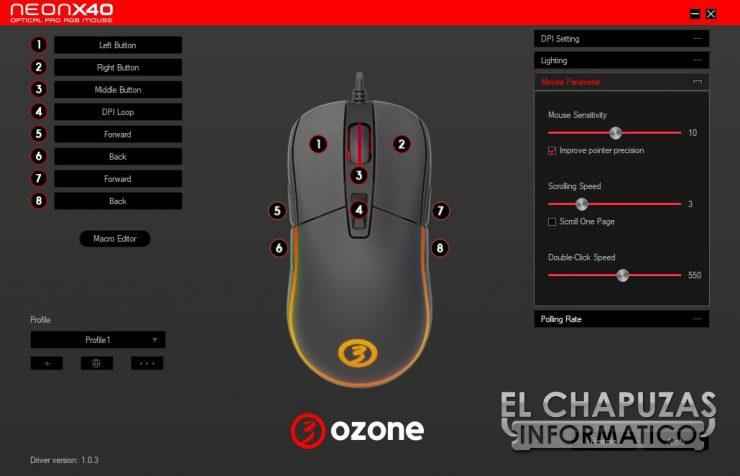 Ozone Neon X40 software 3