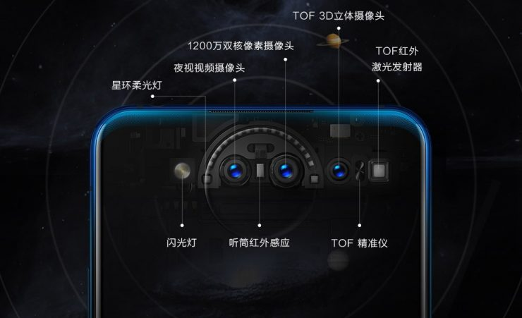 diseño camara Vivo Nex Dual Display Edition