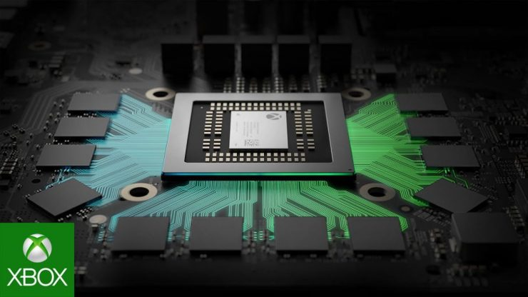 imagen de la APU de la Xbox One X