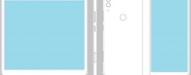 ZTE presenta una nueva patente sobre un smartphone con pantalla plegable.