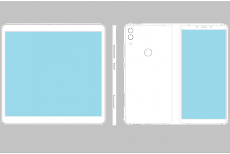 ZTE patente con pantalla plegable